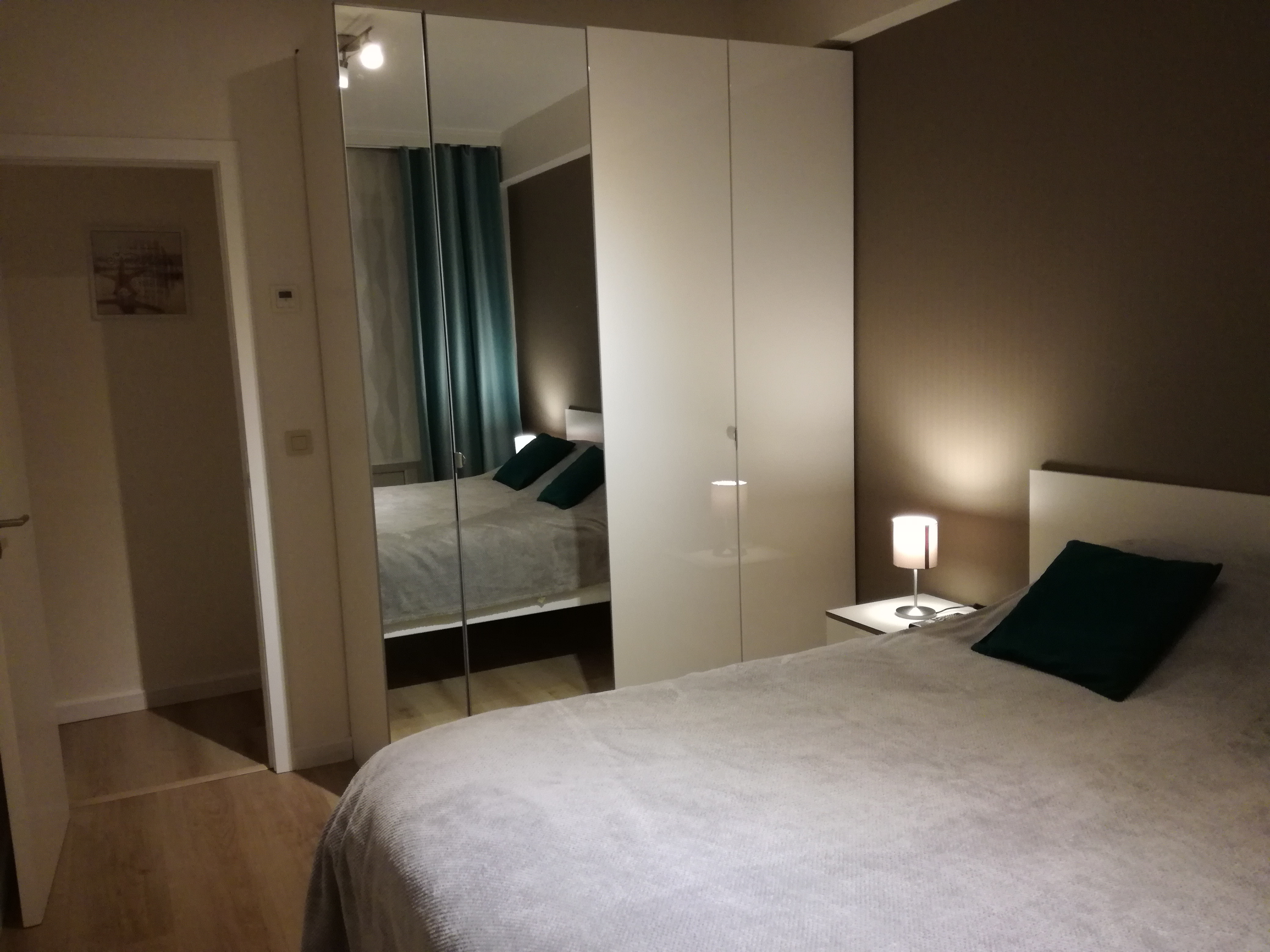 Slaapkamer met dubbelbed