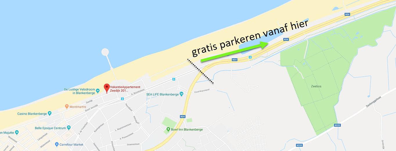 gatis parkeren vanaf hier