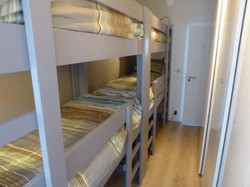 2 stapelbedden in tweede slaapkamer