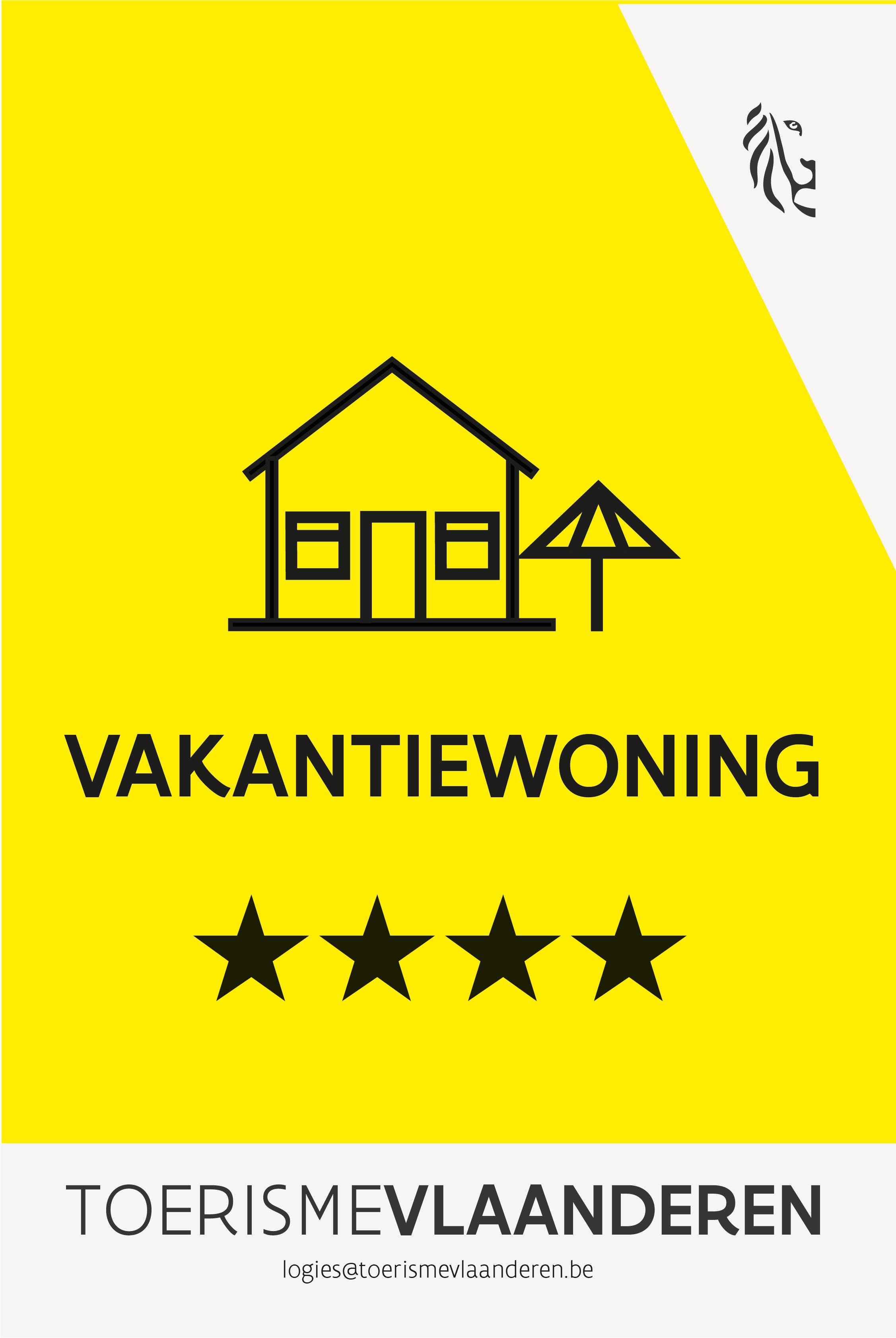 4 sterren - Toerisme Vlaanderen