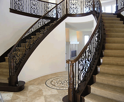* Traditional California designs with emphasis on hand crafted wood and wrought iron * Portfolio ranges from all wood to all iron with materials and finishes to complement the ambience of the home