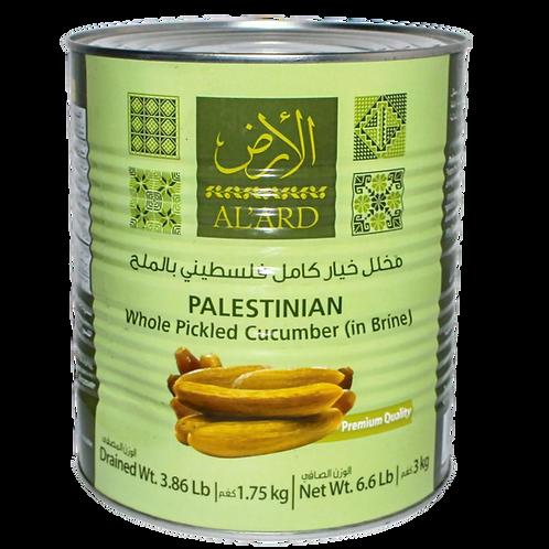 Alard Palestinian Whole Pickled Cucumber (in Brine) 3kg