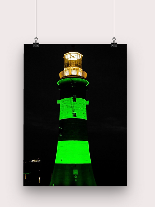 Plymouth at night - Poster