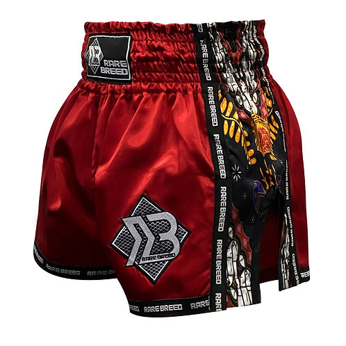 Red Batik Muay Thai Shorts