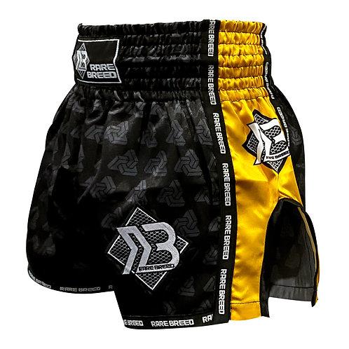 Black/Yellow Muay Thai Shorts