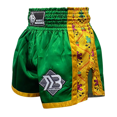 Green Batik Muay Thai Shorts