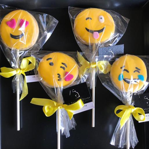 Lecca lecca di Biscotto - Emoji Party