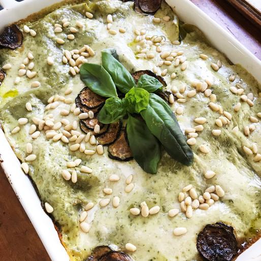 Lasagna Verde con Zucchine, Pinoli e Pesto