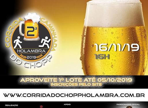 Inscrições abertas pra 2ª Corrida e Caminhada do Chopp de Holambra!