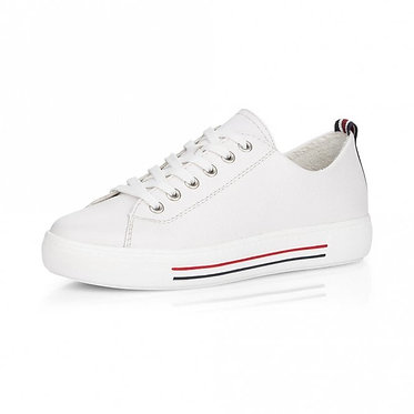 Remonte White Lace up Trainers D0900