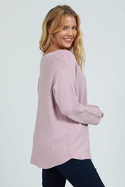 Plain Soft Knitted V-Neck Jumper
