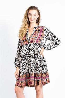 Leapard Print V-Neck Tunic