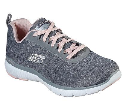 Skechers Flex Appeal 3.0 - Insiders Gray-Light pink