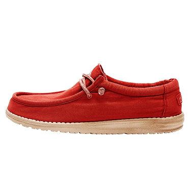 Hey Dude Wally Washed Brick Slip on shoes