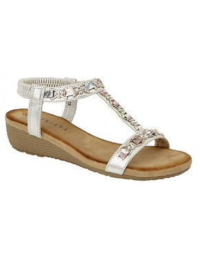 Cipriata Lia Jeweled Sandals L072