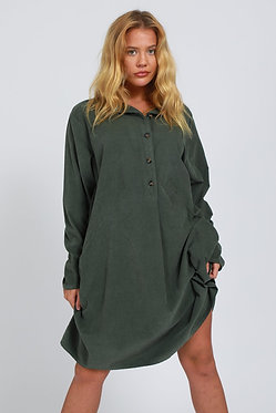 Fine Needle Cord Two Pocket Dress