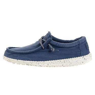 Hey Dude Wally Washed Steel Blue Slip on shoes