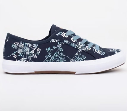 Brakeburn Cow Parsley Lace up Trainers Navy