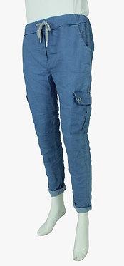 Plain Stretch Cargo Trousers