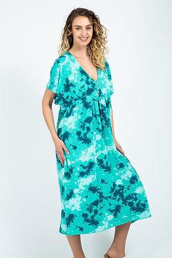 Splash Print V-Neck Dress