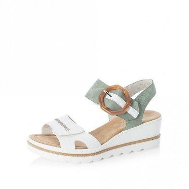 Rieker White Combination Fastener Sandals 67476