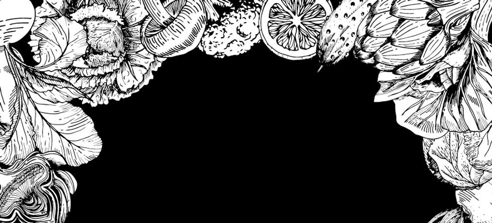 ilustração frutas e legumes Alimentação Saudável para a Pessoa Idosa