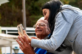 visita idoso abrigo-trabalho voluntario