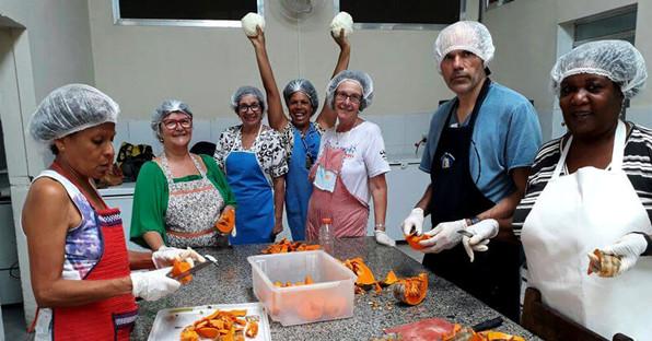 trabalho voluntario aproveitamento alimento