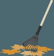 vassoura para varrer folha outono
