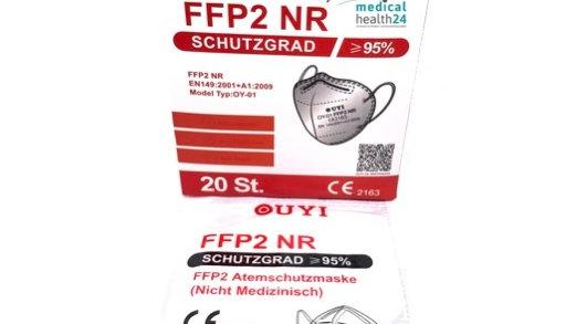 FFP2 Masken Zertifiziert und geprüft 20Stk. Pro packung