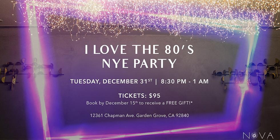 I Love the 80's at NOVA Kitchen & Bar