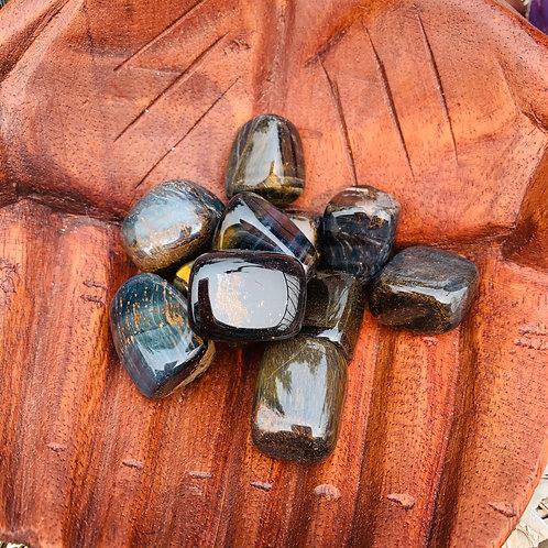 Tumbled Stone - Tiger Eye Blue