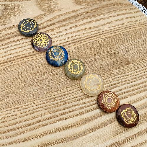 7 Chakra Palmstone Set
