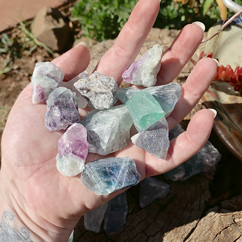 Raw Fluorite Small Natural Chunks