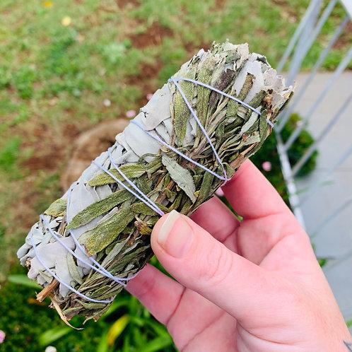 Medium White Sage and Lavender Smudge Stick