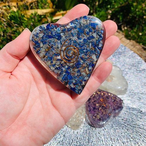 Large Lapis Lazuli Orgonite Heart
