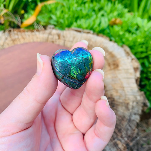 Pyrite Aura Heart