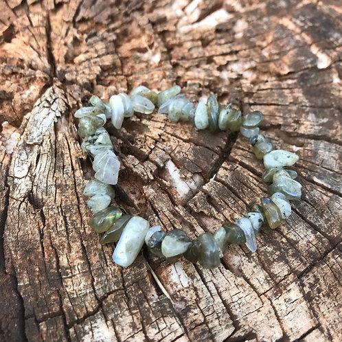 Gemstone Chip Labradorite Bracelet