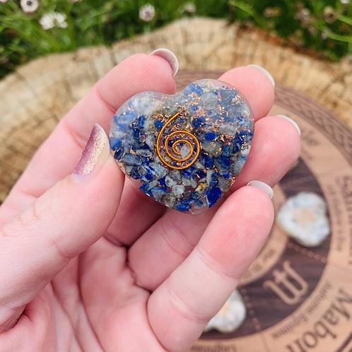 Small Lapis Lazuli Orgonite Heart