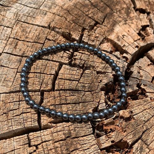 Hematite Round Stone Bracelet