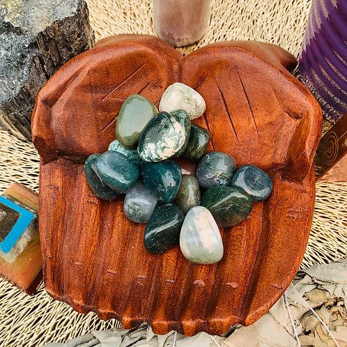 Tumbled Stone - Moss Agate