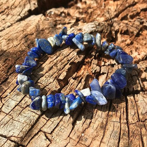 Gemstone Chip Lapis Lazuli Bracelet