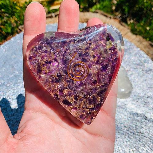 Large Amethyst Orgonite Heart