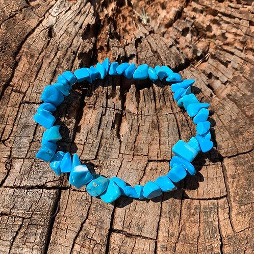 Gemstone Chip Turquoise Magnesite Bracelet