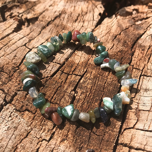 Gemstone Chip Fancy Jasper Bracelet