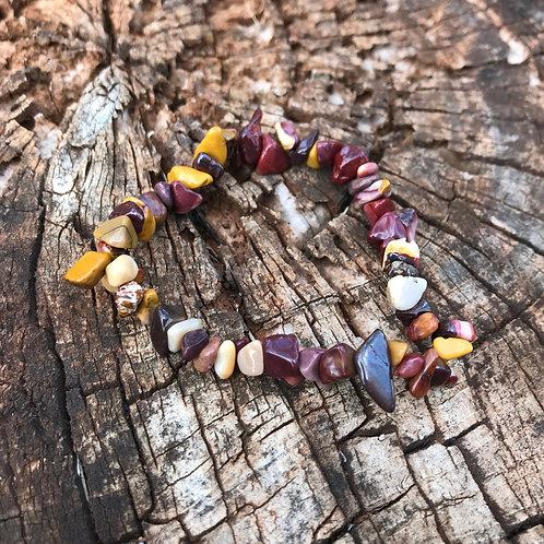 Gemstone Chip Mookaite Bracelet