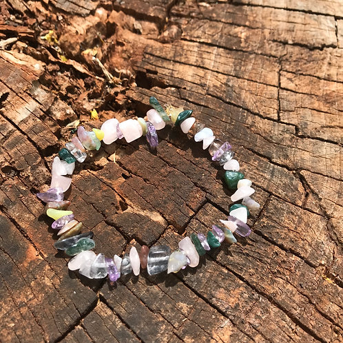 Gemstone Chip Mixed Stone Bracelet