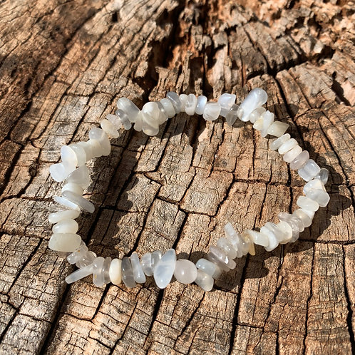 Gemstone Chip Grey Moonstone Bracelet