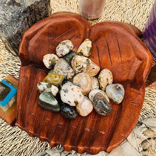 Tumbled Stone - Ocean Jasper