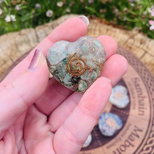 Small Green Aventurine Orgonite Heart